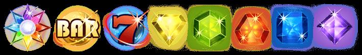 uitleg van de starburst symbolen